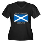 Dunfermline Scotland Women's Plus Size V-Neck Dark