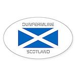 Dunfermline Scotland Sticker (Oval 10 pk)