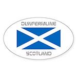 Dunfermline Scotland Sticker (Oval 50 pk)
