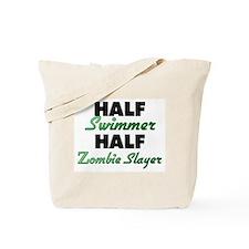 Half Swimmer Half Zombie Slayer Tote Bag