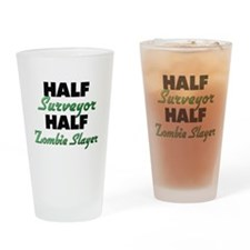 Half Surveyor Half Zombie Slayer Drinking Glass