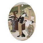 Eirakuan Teahouse Oval Ornament