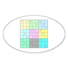 Sudoku Oval Decal
