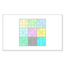 Sudoku Rectangle Decal
