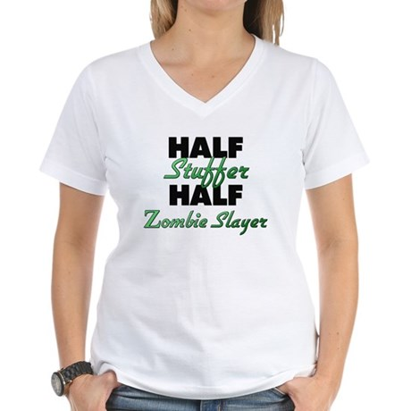 Half Stuffer Half Zombie Slayer T-Shirt