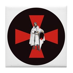 Knight Templar Tile Coaster