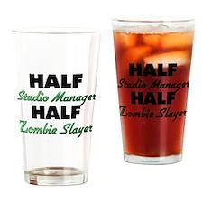 Half Studio Manager Half Zombie Slayer Drinking Gl