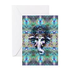 Psychedelic Ganesh Greeting Card