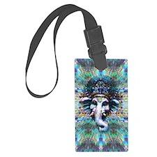 Psychedelic Ganesh Luggage Tag