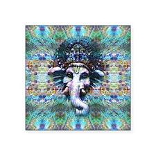 "Psychedelic Ganesh Square Sticker 3"" x 3"""