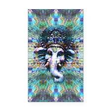 Psychedelic Ganesh Rectangle Car Magnet