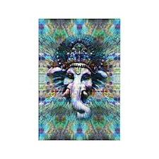Psychedelic Ganesh Rectangle Magnet