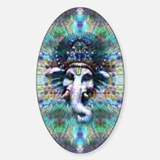 Psychedelic Ganesh Sticker (Oval)