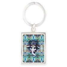 Psychedelic Ganesh Portrait Keychain