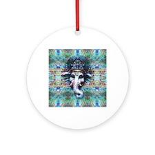 Psychedelic Ganesh Round Ornament