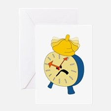 Angry Alarm Clock Greeting Cards