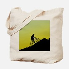 Mountain Biking (Yellow) Tote Bag
