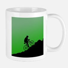 Mountain Biking (Green) Mugs
