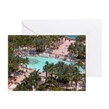 Paradise Island Pool - Greeting Cards (Package of
