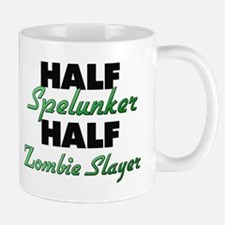 Half Spelunker Half Zombie Slayer Mugs