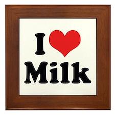 I Love Milk 2 Framed Tile