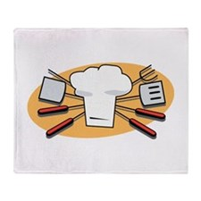 Barbecue Cooking Accessories Throw Blanket