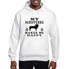 My Schipperke makes me happy Hoodie