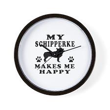 My Schipperke makes me happy Wall Clock