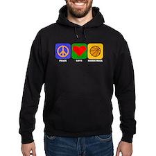 Peace Love Basketball Hoody
