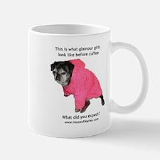 Glamour Girls Before Coffee Pug Mug
