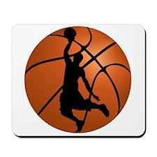Basketball Dunk Silhouette Mousepad