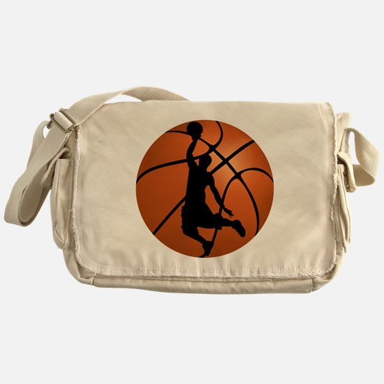 Basketball Dunk Silhouette Messenger Bag