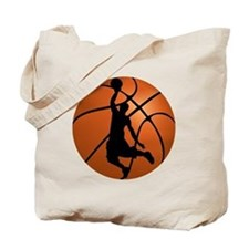 Basketball Dunk Silhouette Tote Bag