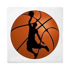Basketball Dunk Silhouette Queen Duvet