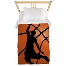 Basketball Dunk Silhouette Twin Duvet