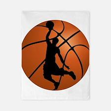 Basketball Dunk Silhouette Twin Duvet