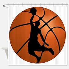 Basketball Dunk Silhouette Shower Curtain
