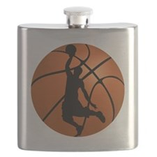 Basketball Dunk Silhouette Flask