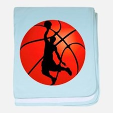 Basketball Dunk Silhouette baby blanket