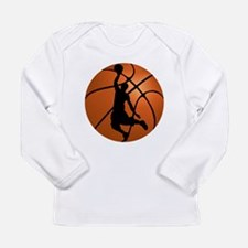 Basketball Dunk Silhouette Long Sleeve T-Shirt