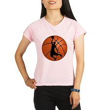 Basketball Dunk Silhouette Performance Dry T-Shirt