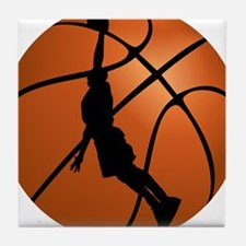 Basketball Dunk Silhouette Tile Coaster