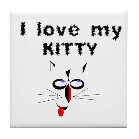 I Love My Kitty - Tile Coaster