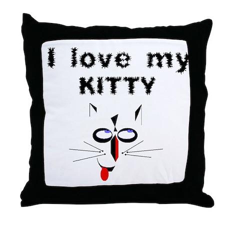 I Love My Kitty - Throw Pillow