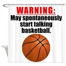 Spontaneous Basketball Talk Shower Curtain