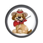 Country Dog Wall Clock