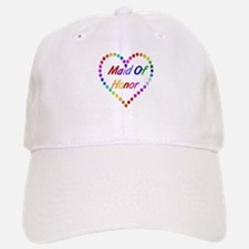 Rainbow Maid Of Honor Baseball Baseball Cap