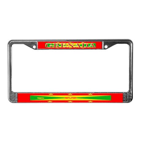 Grenada Blank Flag License Plate Frame