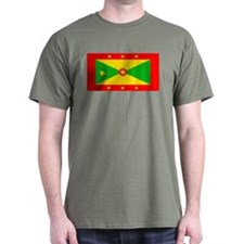 Grenada Blank Flag Military Green T-Shirt
