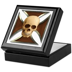 Skull & Cross Keepsake Box